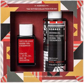 Korres Set Vetiver Root Green Tea Cedarwood 50ml & Shower Gel Vetiver Root Green Tea Cedarwood 250ml