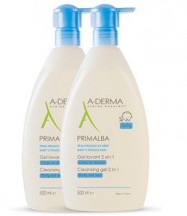 Aderma Baby Primalba Gel Lavant 2 in 1 2X500ml -50% στο 2ο Προϊον