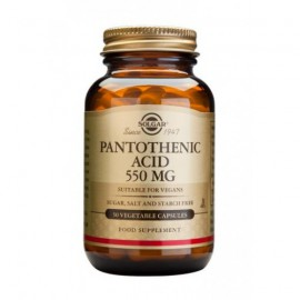 SOLGAR PANTOTHENIC ACID 550MG 50VCAP
