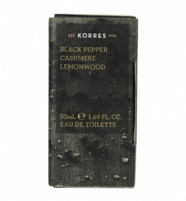 KORRES Eau de Toilette Black Pepper, Cashmere & Lemonwood Ανδρικό Άρωμα 50ml