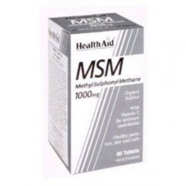 HEALTH AID MSM 1000MG VEGETARIAN TABLETS 90S