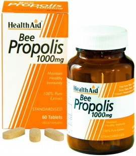 Health Aid Bee Propolis 1000mg Πρόπολη 60tabs