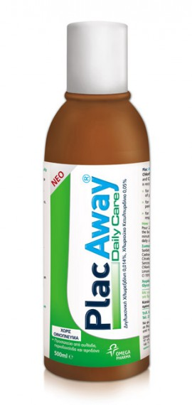 Omega Pharm Plac Away Daily Care στοματικό διάλυμα 500ml