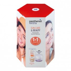 Medisei Panthenol Extra Sun Care Diaphanous SPF50 50ml & Δώρο Panthenol Extra Face And Eye Cream 50ml