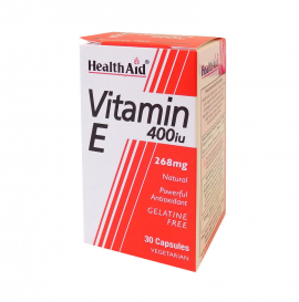 HEALTH AID VITAMIN E 200IU NATURAL VEGETARIAN CAPSULES 60S