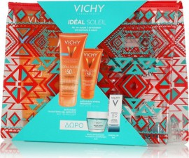Vichy Velvet Set - Ideal Soleil Lait-Gel SPF50 200ml & Ideal Soleil Mattifying Face Fluid Dry Touch SPF50 50ml + Δώρο Quenching Mineral Mask 15ml & Mineral 89 5ml