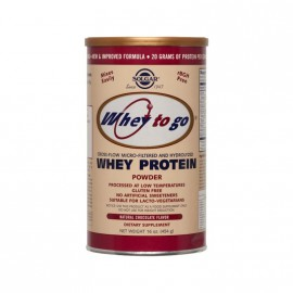 Solgar WHEY TO GO PROTEIN CHOCOLATE powder 454gr