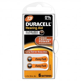 Duracell Hearing Aid Battery With Easytab 13 6τμχ
