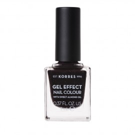 Korres Gel Effect Nail Colour No.77 Sequins Plum Βερνίκι Νυχιών, 11ml