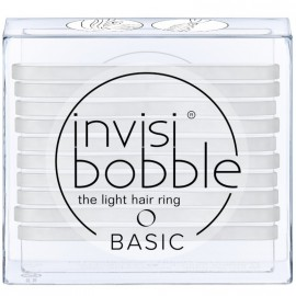 Invisibobble Basic Light Hair Ring Crystal Clear Λαστιχάκια Μαλλιών με Διάφανο Χρώμα 10τμχ