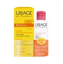 Uriage Set Bariesun Cream SPF50+ 50ml + Δωρό Thermal Micellar Water 100ml