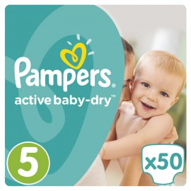 PAMPERS Active Baby-Dry No.5 Junior (11-18 Kg) 50 Πάνες