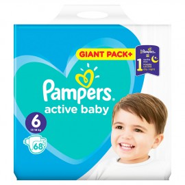 Pampers Active Baby Giant Pack No.6 (13-18kg) 68τμχ