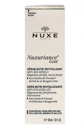 Nuxe Nuxuriance Gold Nutri-Revitalising Serum Ultimate Anti-Aging for Dry Skin 30ml