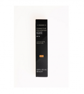 Korres Corrective Foundation SPF15 Activated Charcoal ACF4 Διορθωτικό Make-up ACF4 με Ενεργό Άνθρακα 30ml