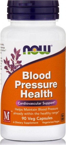 Now Foods Blood Pressure Health (Mega Natural - BP, Hawthorn Berry Extract 300mg 1.8%) 90Vcaps