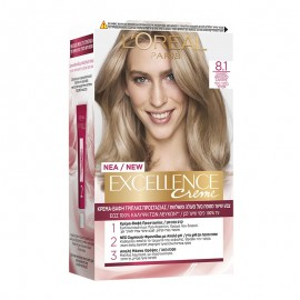 LOreal Excellence Creme 8.1 Ξανθό Ανοιχτό Σαντρέ 48ml