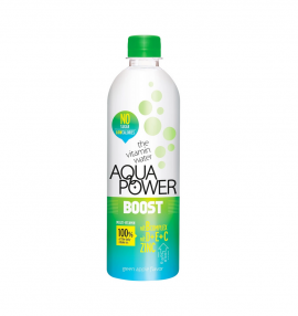 Aqua Power Water Boost Green Apple 375ml