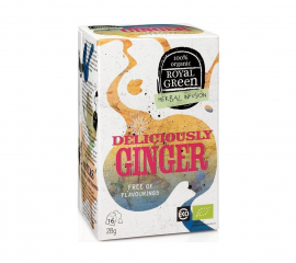 Am Health Royal Green Herbal Infusion Tea Deliciously Ginger 16 φακελάκια