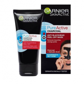 GARNIER PURE ACTIVE CHARCOAL PEEL-OFF MASK 50ML