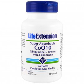 Life Extension Super-Absorbable CoQ10 100mg 60 softgels