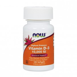 Now Foods Vitamin D3 10.000 IU 120 Softgels