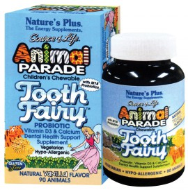 NATURES PLUS Animal Parade Tooth Fairy 90μασώμενες ταμπλέτες