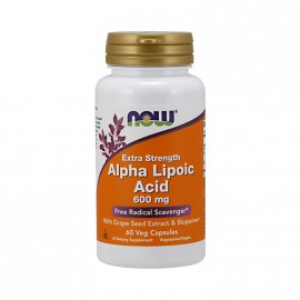 Now Foods Alpha Lipoic Acid 600mg 60 Veget.caps