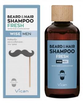 Vican Wise Men Beard & Hair Shampoo Fresh 200ml
