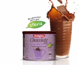 Deligios Chocolate Drink & Stevia 225g