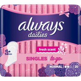 Always Σερβιετάκια Normal Fresh Singles to go 20τμχ