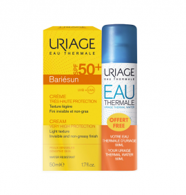 Uriage Set Bariesun Cream SPF50+ 50ml + Δώρο Uriage eau Thermale Water 50ml