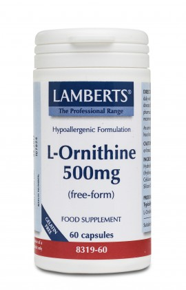 LAMBERTS L-ORNITHINE 500MG 60CAPS