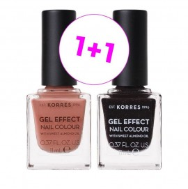 Korres Set Gel Effect Nail Colour 40 Winter Nude 11ml + Δώρο Gel Effect Nail Colour 77 Sequins Plum 11ml