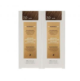 Korres Set Abyssinia Superior Gloss Colorant 7.0 Ξανθό 50ml 1+1