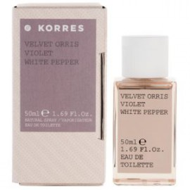 KORRES EAU DE TOILETTE VELVET ORRIS,VIOLET,WHITE PEPPER 50ml