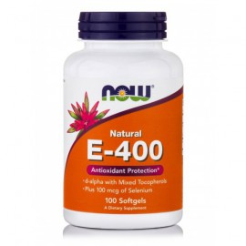Now foods Vitamin E-400iu Selenium, 100 Softgels