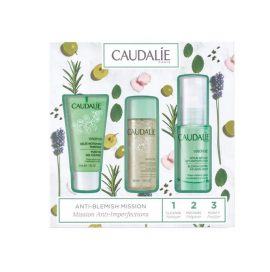 Caudalie Set Vinopure Serum Infusion Anti-Imperfections 30ml + Vinopure Purifying Gel Cleanser 30ml + Vinopure Lotion Purifiante 50ml