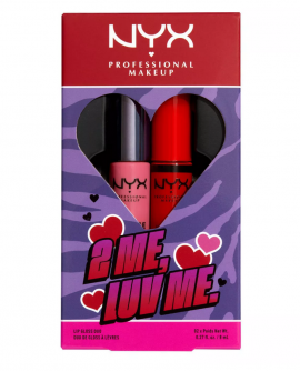 NYX Professional Makeup 2 Me Luv Me Butter 01 Lip Gloss 2τμχ