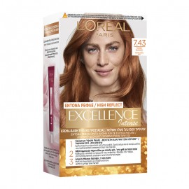 LOreal Excellence Intense 7.43 Ξανθό Χάλκινο 48ml