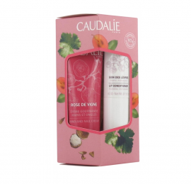 Caudalie LipHand Duo Rose de Vigne Hand and Nail Cream 30ml + Soin des levres Lip Conditioner 4,5gr