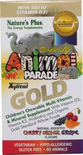 NATURES PLUS ANIMAL PARADE GOLD ASSORTED 60TABS