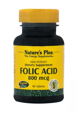 NATURES PLUS Folic Acid 800 mcg 90tabs