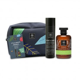 Apivita Set Its a Mans World After Shave με Βάλσαμο & Πρόπολη 100ml + Tonic Mountain Tea Shower Gel με Αιθέρια Έλαια 300ml