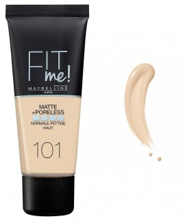 Maybelline Fit Me Matte & Poreless Liquid Foundation For Normal To Oily Skin 101 True Ivory 30ml