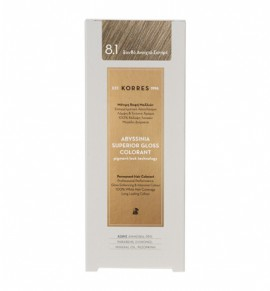 KORRES Abyssinia Superior Gloss Colorant 8.1 Ξανθό Ανοιχτό Σαντρέ 50ml