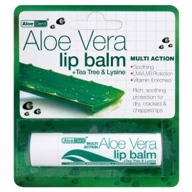 Optima Aloe Vera Lip Balm +Tea Tree & Lysine 4g