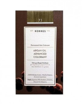 KORRES ARGAN OIL ADVANCED COLORANT 7.1 ΞΑΝΘΟ ΣΑΝΤΡΕ 50ML