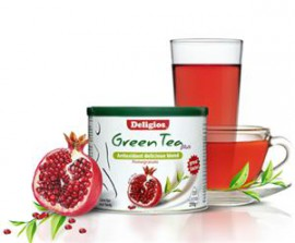 DELIGIOS Green Tea Plus Pomegranate 230gr