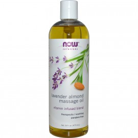 NOW Solutions Lavender Almond Massage Oil 16fl.oz.(473ml)